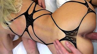 German amateur skinny blond milf anal double penetration