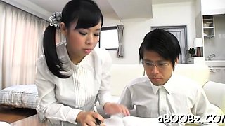 Dissolute busty japanese sweetie Shiori Tsukada fucking