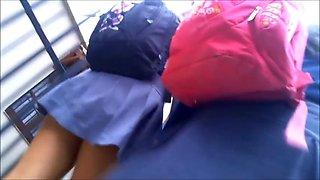 Under schoolgirls upskirt #4