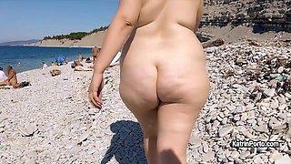 Katrin Porto - Nude Beach Walk