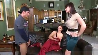 Milf Catches Guy Fucking His Girlfriend On The Couch