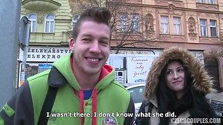 Czech foursome sex for money