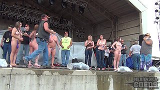 Abate Of Iowa 2015 Thursday Finalist Hot Chick Stripping Contest At The Freedom Rally - NebraskaCoeds