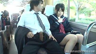 Innocent Schoolgirl Used In A Bus