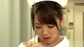 Japanese Nurse In Lotion