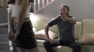 Dad punishes and spanks his slutty 18yo dauhter