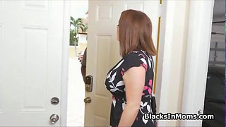 Big tit milf loves these two BBCs