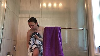 super young virgin sister SPYCAM showering 18 years old