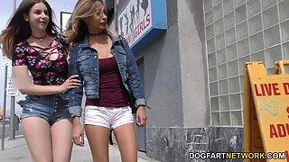 Stella Cox & Jade Jantzen Try BBC Anal - Gloryhole