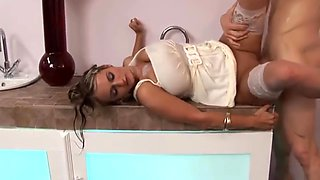 Wendy Star In Hot Milf Fucks Her Coach After Workout Inside The Bathroom