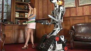 Robot love with a desirable babe Sarah Blake