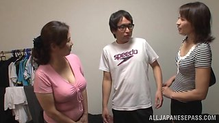 Japanese AV Model is a naughty tramp in mff threesome