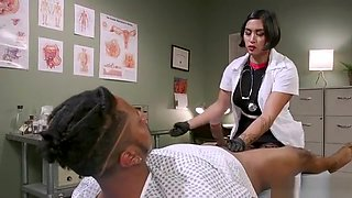 Asian doctor anal fingers bound black guy