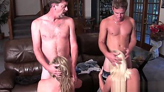 Taboo Orgy with Dad, Son, Mom and Her Friend