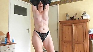Granny fucked in the ass