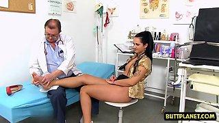 brunette doctor gaping and cumshot clip clip 1