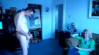 I strip down and get hard while a buddy watches! I get off doing this!