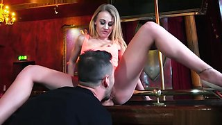 Horny street sluts loves fucking the big dick of her custome