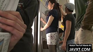 Hot japanese milf fucked on the public bus