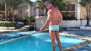 Latin blonde whore fucks the pool cleaner 1080p