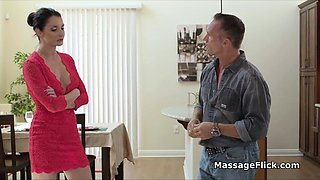 The boss wants to fuck my masseuse housewife