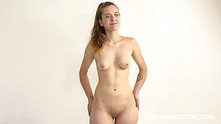 Hot Czech Teen at Her First Casting