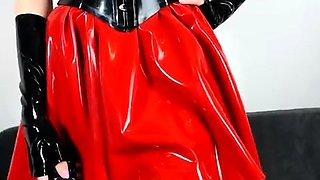 Latex Lucy is clad in latex