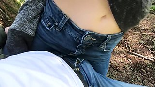 Dry Humping leads to a Messy Creampie Running Down my Leg