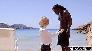 Tiny Blonde Russian vs. The Big Black Dick
