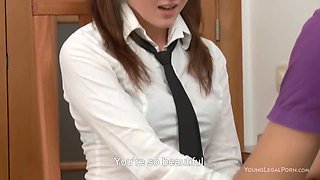 Russian 18yo Student Studies English And Fucks