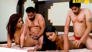 Indian Wife Swap Foursome Sex in Hindi