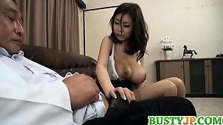Busty hottie Riai Sakuragi huge boobs fucking and amazing!
