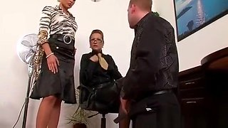 Pliant guy gets whipped and humiliated in femdom fetish