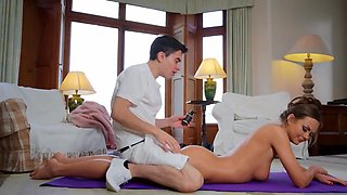 Masseur forced to satisfy sexual needs of slender client
