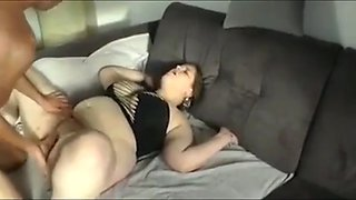 Crazy bbw wife having a real orgasm with her ex husband