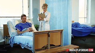 Georgie Lyall In Hot Blonde Nurse Gets A Massive Facial By A Patient