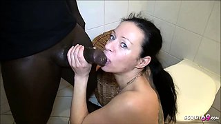 Pregnant Lactating Teen Give Blowjob to BBC for Cash German