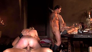 Horny pornstars Claudia Adams, Kathy Anderson and Kristi Love in hottest blonde, anal sex movie