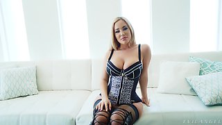 Thick Australian Savannah Bond talking about her life and her anal scene