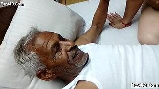 Old man and bhabhi suck dick