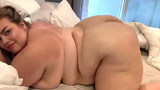 Hot bbw in the bed