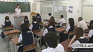 Subtitles CFNM nudist Japanese student