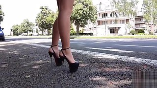 Street prostitute forever...in high heels and leather