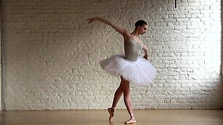 Dazzling Russian ballerina sensually reveals her sexy body