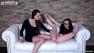 Passionate lesbian sex between stars Mea Melone and Wendy Moon