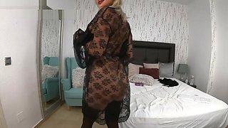 see-through dress teasing stepmom