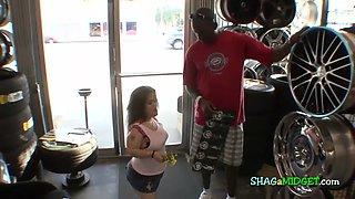 Black Guy Fucks a Horny Midget Bitch