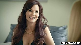 MOMSWAP 2 Busty MILF switch their Stepsons in 4some