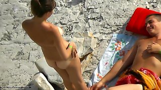 Fabulous Homemade movie with Nudism, Beach scenes