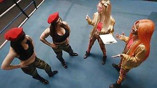 Girls of Wrestling lesbian Kenna James, Cadence Lux, Aiden Ashley, Ariel X